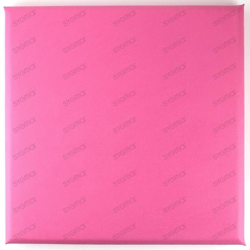 Faux leather panels 30 x 30 cm rose