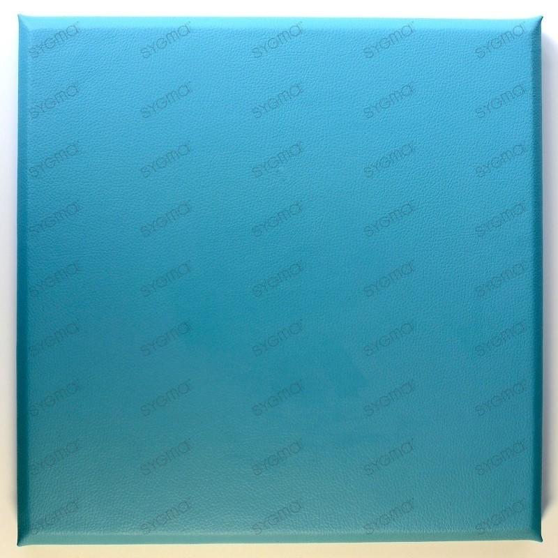 Faux leather panels 30x30 cm bleu turquoise