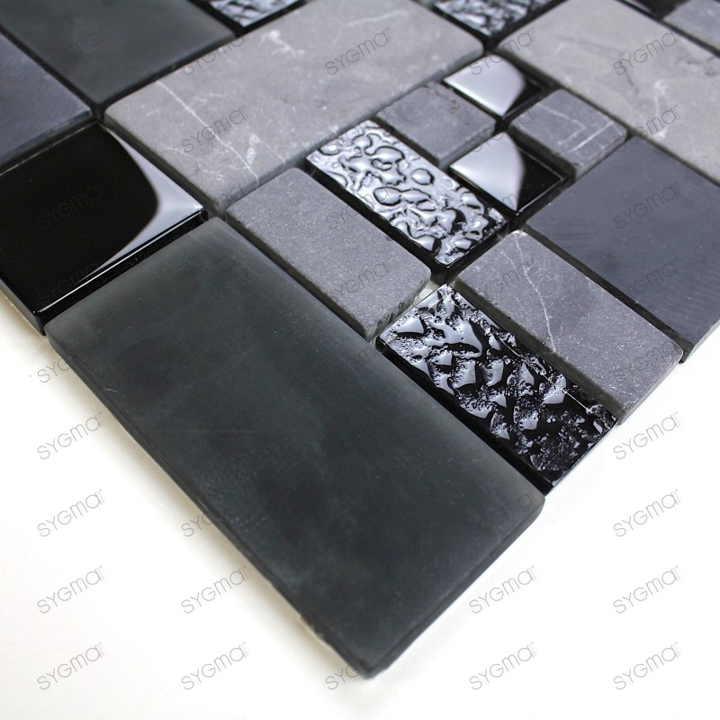 echantillon verre et pierre shadow carrelage mosaique