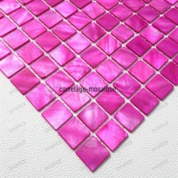 Mother of pearl mosaic sample Nacarat Rose