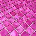 Mother of pearl mosaic sample Nacarat Rose