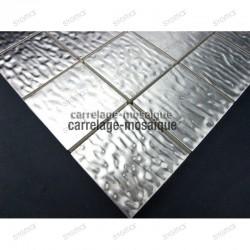 Splashback stainless stell mosaic sample mosaic Structura