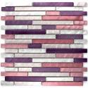 Mosaique credence cuisine aluminium Blend violet ech