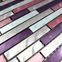 Aluminium mosaic sample for splashback worktop Blend Violet