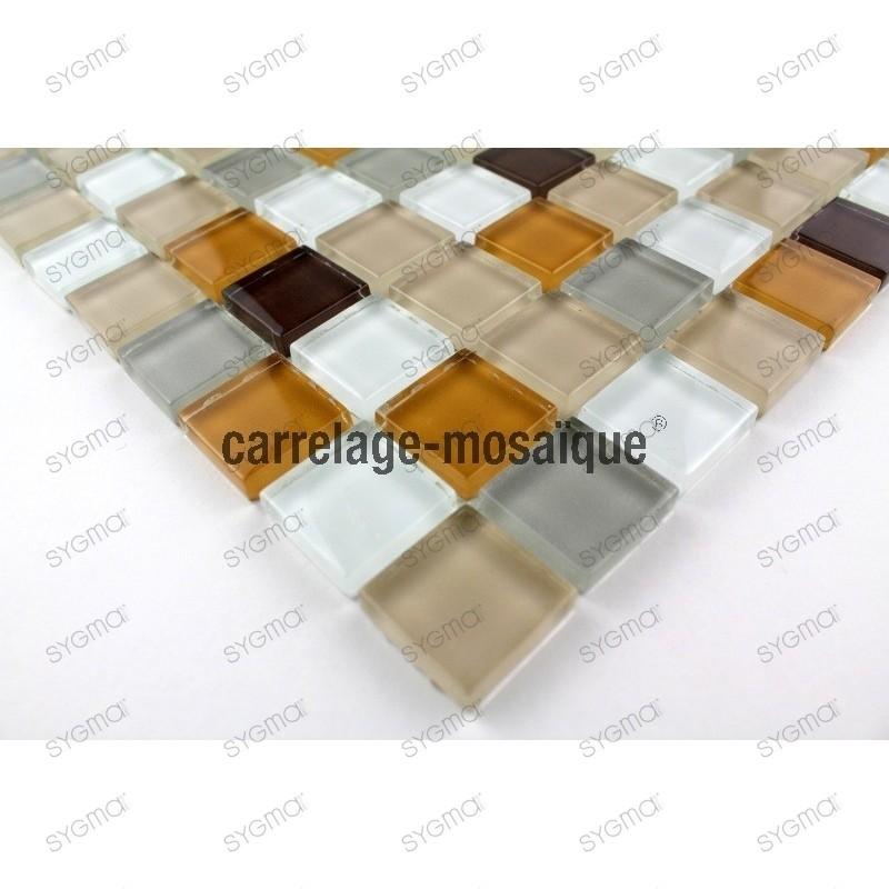 Suelo de ducha en mosaico vidrio muestra mosaico Honey