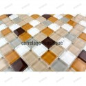 Glass mosaic sample for floor shower italian Honey