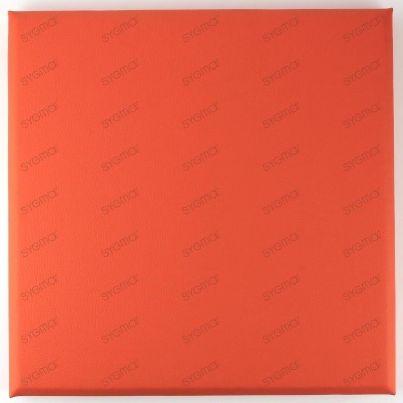 Panneaux simili cuir tete de lit 30x30cm orange