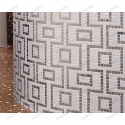 Glass mosaic sample for italian shower hammam Hermes