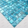 Bathroom mosaic Mother of pearl sample odyssee bleu