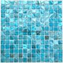 Bathroom mosaic Mother of pearl sample Nacarat Bleu