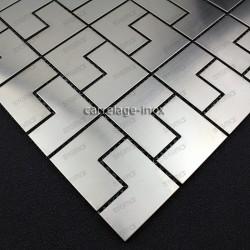 Mosaico acero inoxidable para cocina ducha muestra spiro