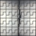 Shower in stainless stell mosaic sample spiro