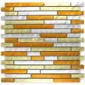 Aluminium mosaic sample splashback Blend gold