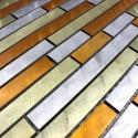 Mosaique cuisine aluminium blend Jaune ech