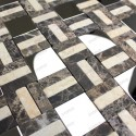 Stone mosaic shower bathroom sample Lotta
