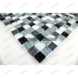 Suelo ducha en mosaico vidrio muestra mosaico Opus noir