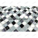 Glass mosaic sample for shower kitchen Opus noir