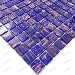 Glass mosaic sample for italian shower kitchen vitro violet