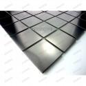 Mosaico acero inoxidable para cocina ducha muestra