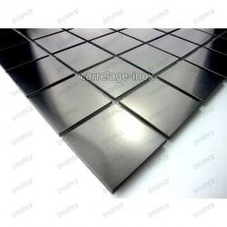 Mosaico acero inoxidable para cocina ducha muestra regular noir