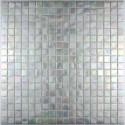 Glass mosaic sample for italian shower rainbow ice