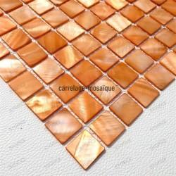 Ducha en mosaico de madreperla muestra Nacarat Orange