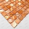 Mother of pearl mosaic sample Nacarat Orange