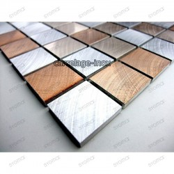Aluminium mosaic sample for splashback worktop