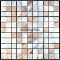 Splashback kitchen Aluminium mosaic sample Alu 25 marron