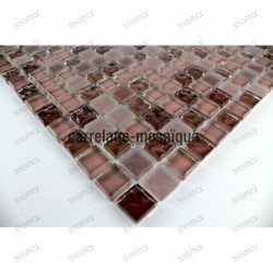 Glass mosaic sample for shower kitchen Opus Marron