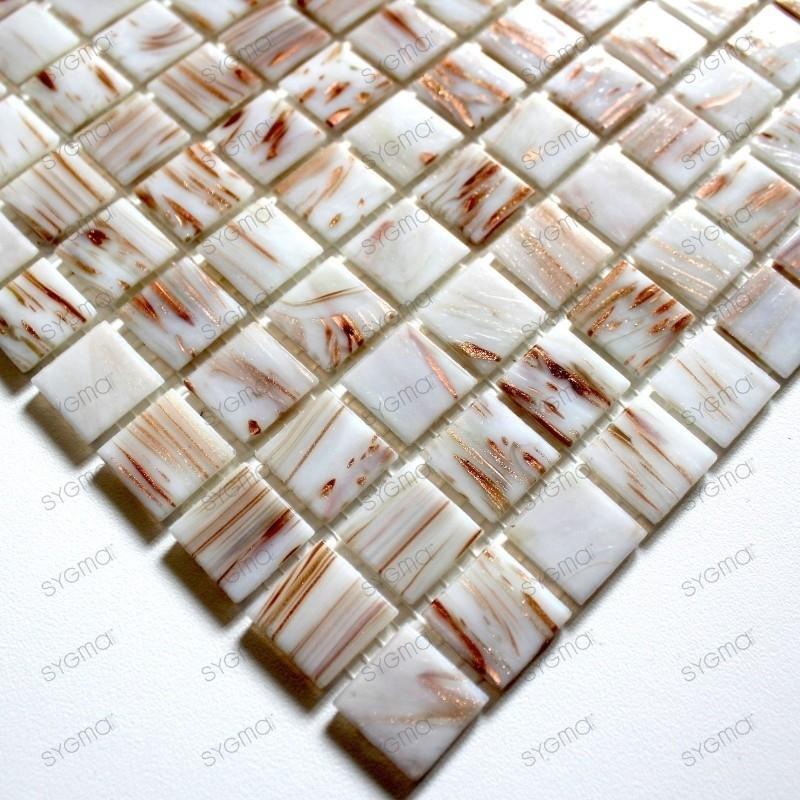 Glass mosaic sample for italian shower