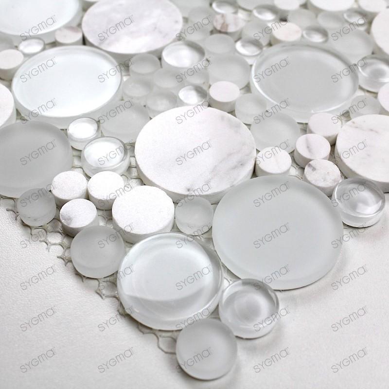 echantillon verre et pierre