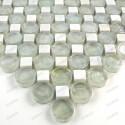 Mosaico de piedra y vidrio para banos y ducha