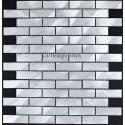 Splashback kitchen Aluminium mosaic tiles sample Brick 64