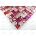 Glass mosaic sample for shower
