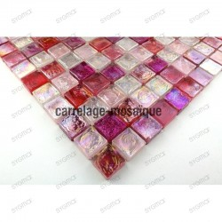 Ducha o bano en mosaico de vidrio muestra Zenith Rose