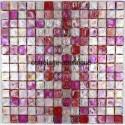 Mosaic for shower bathroom sample glass mosaic Zenith Rose
