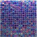 Glass mosaic sample for italian shower bathroom rainbow petrole