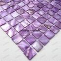Mother of pearl mosaic sample Nacarat Violet