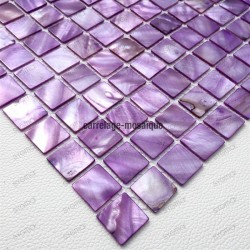 Mother of pearl mosaic sample Nacarat Violet