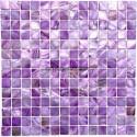 Suelo ducha en mosaico de madreperla muestra Nacarat Violet