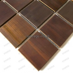 Shower in stainless stell mosaic sample Regular 48 bronze