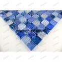 Glass mosaic italian shower bathroom Zenith Bleu sample