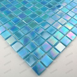 Glass mosaic sample for italian shower