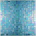 Glass mosaic sample for italian shower hammam Rainbow Azur