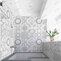Azulejo ceramica patchwork Geometric Line cocina bano