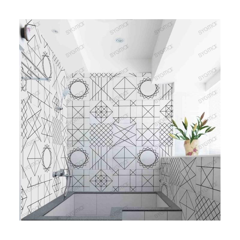 Cement tiles patchwork Geomtric Line kitchen bathroom