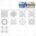 Patchwork carrelage sol credence cuisine Geometric Line