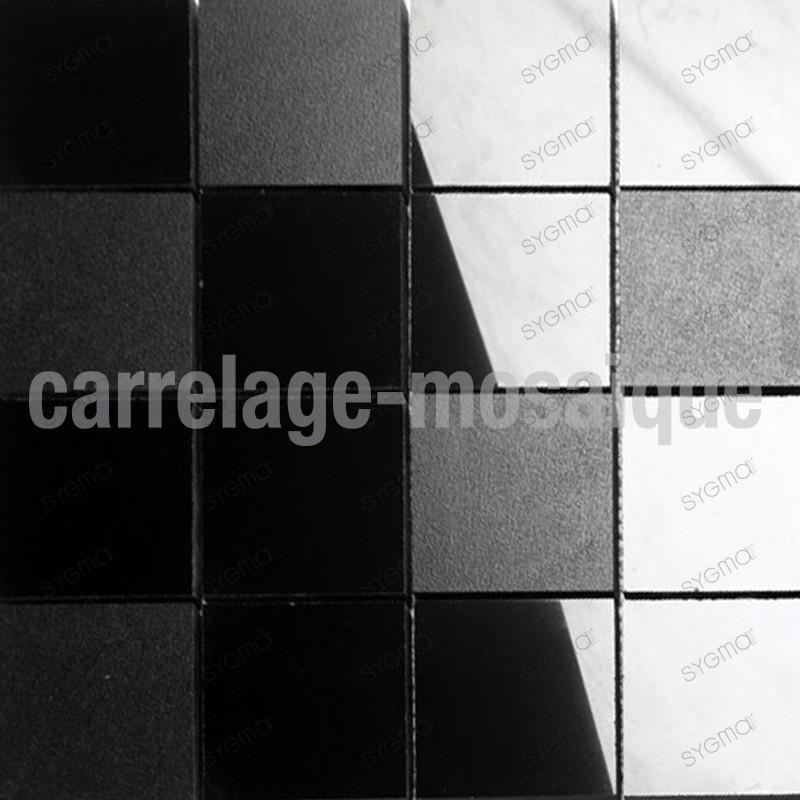 Mosaico de piedra para cocina y ducha color negro Carbone Reg73