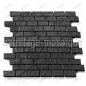 Mosaico de piedra para ducha italiana bano Carbone Brick